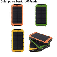 Tollcuudda Universal Solar Charger External Battery For Iphone 4 5s 8000mAh Solar Power Bank Dual USB