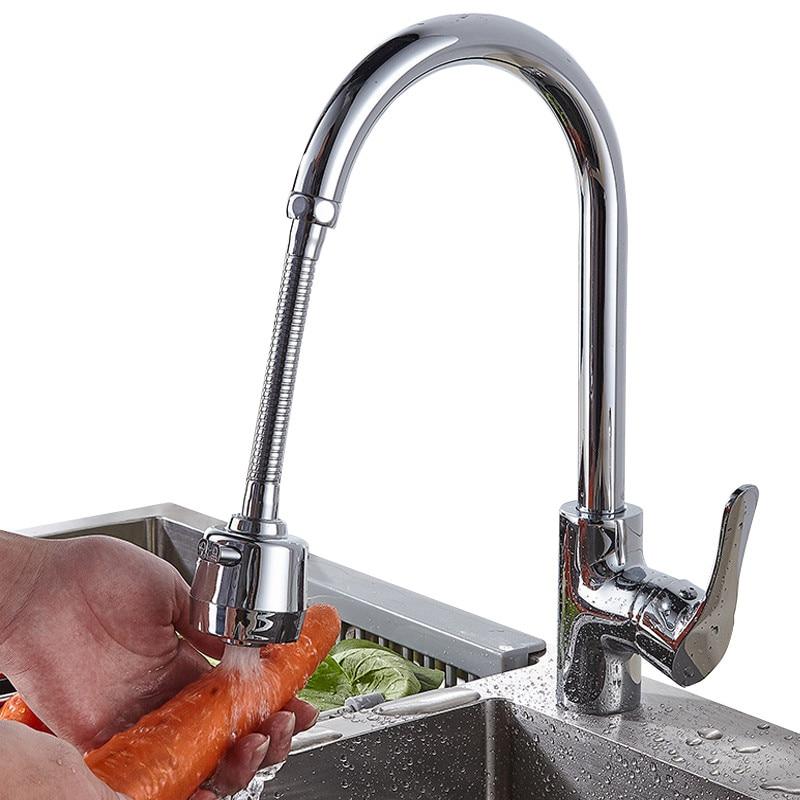 ใหม่สแตนเลสสตีลขยายก๊อกน้ำ Bubbler หมุนหัวฝักบัวยาว Tap เครื่องกรองน้ำห้องน้ำอ่างล้างจานอุปกรณ์...