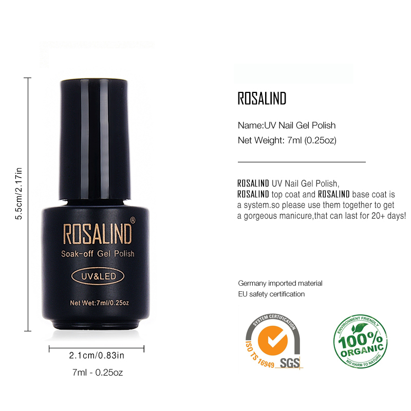 Gel Nail Polish Sale: ROSALIND Black Bottle 7ML HOT SALE 29 COLORS Gel Nail