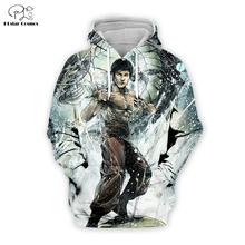 PLstar Cosmos Bruce Lee 3D Printed Hoodie/Sweatshirt/Jacket/shirts Mens for boy Tees hip hop Movie Fans Kun apparel Dragon tops