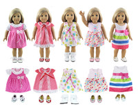 Lot 10 Item 5 Set Doll Clothes 5 Pair Shoes For 18 Inch American Girl Doll