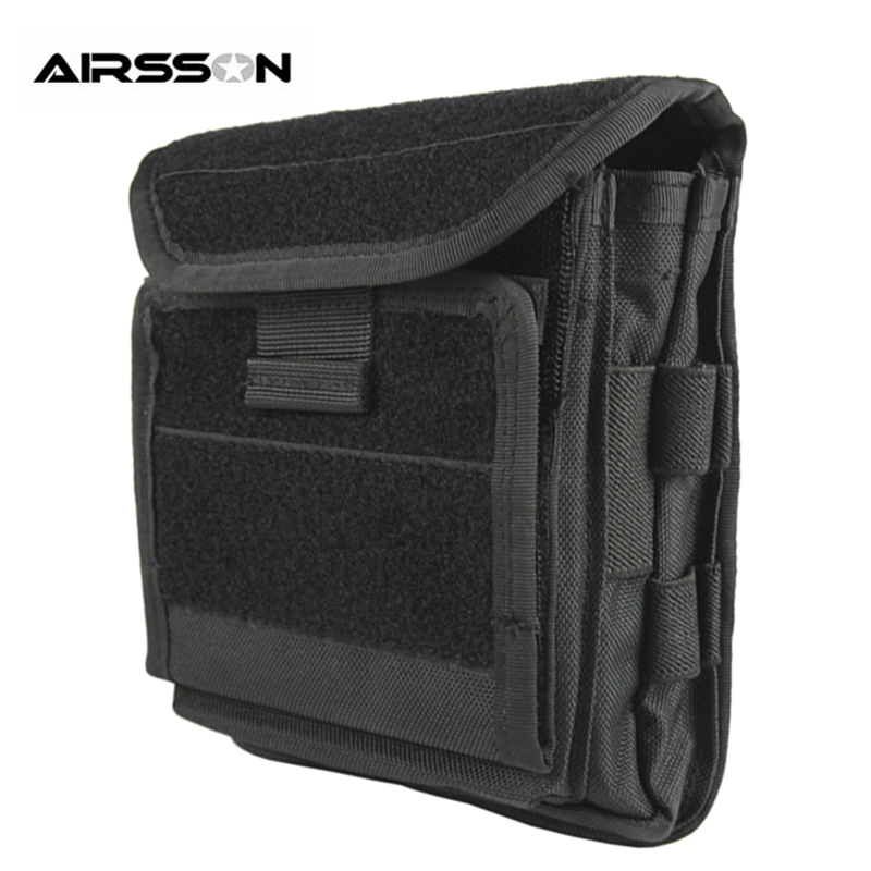 Molle Tactical Pouch Waterproof Wallet Passport Pouch Card Key Coin Holder With Hook&Loop Travel Storage Bag For Outdoor Hunting