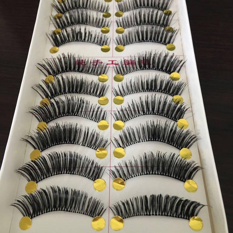 10Pair Transparent False Eyelashes Thick Natural Fake Eye Lashes Professional Makeup Beauty Tips Long False Eye Lashes