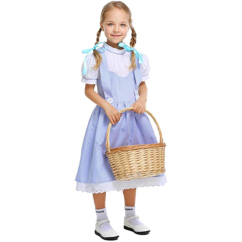 Umorden, детская подростковая одежда на девочек Dorothy с персонажами мультфильма «Волшебник страны Оз»; платье-костюм для девочек на Хэллоуин, классические костюмы Косплэй