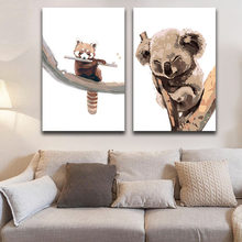 DIY colorings pictures by numbers with colors Painted animal Cute pet picture drawing painting framed Home(China)