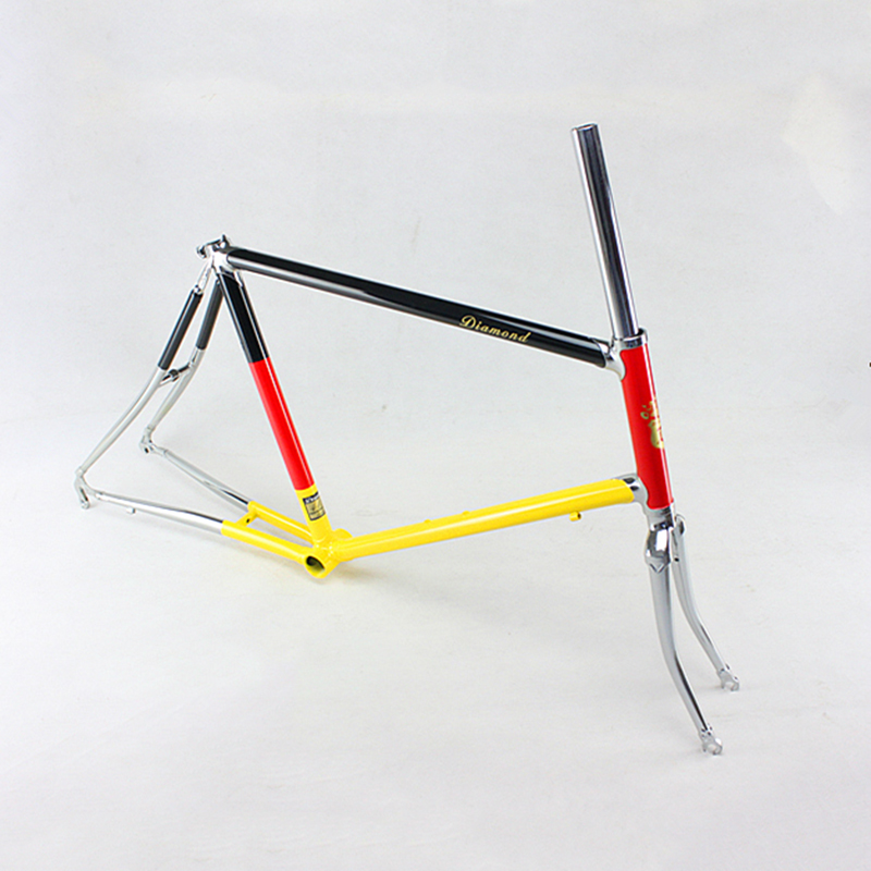 Reynolds 525 Chrome molybdenum steel 20 inch  Road Bike frame Copper plated frame DIY  bike frame touring bicycle frame 46cm диски helo he844 chrome plated r20