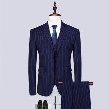 MenS Slim Simple Striped Suit Three-Piece High Quality Business Casual Fashion Gentleman