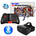 Hot! Virtual Reality VR shinecon Glasses Google Cardboard Pro Version VR Glasses+Smart Bluetooth Wireless Remote Control Gamepad