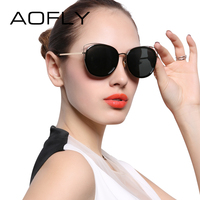 AOFLY Fashion Cat Women Brand Design Cat Eye Sunglasses Vintage Retro Sun Glasses Female Pink Accessories