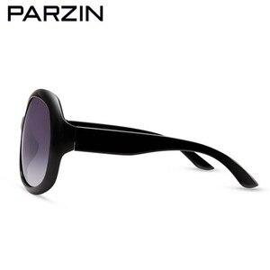 Image 5 - Parzin polarizado óculos de sol feminino retro óculos de sol marca design óculos grandes tons gafas de sol com caso 6216