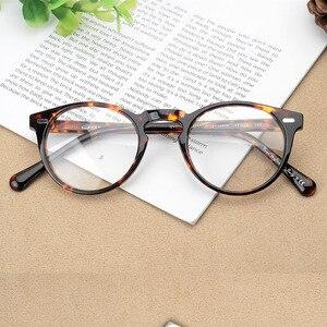 Image 3 - Gregory peck ov5186 vintage óculos mulher quadro claro óculos redondos homens armação óptica para prescrição lente óculos redondos
