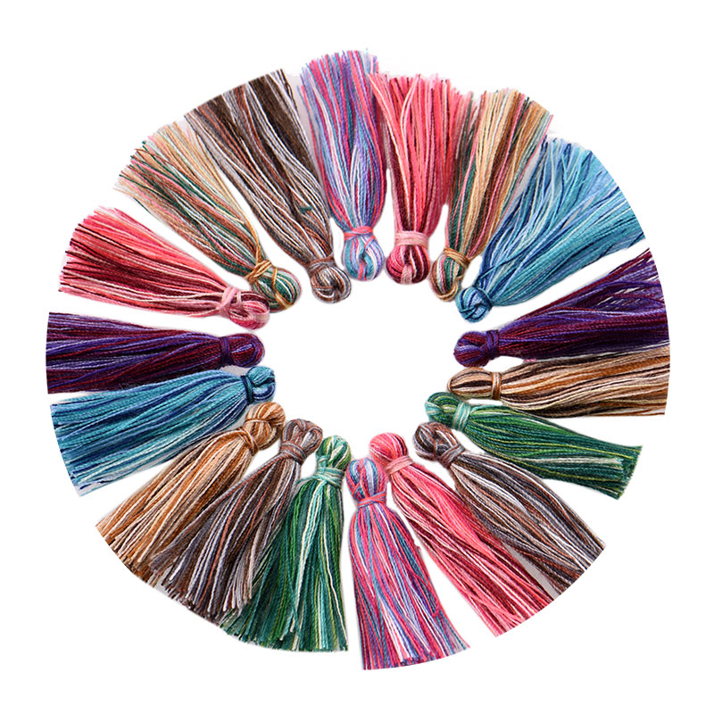 50pcs/lot 3cm Mini cotton Tassels Small Tassels for boho jewelry making Supplies bracelet necklace Findings&Components material