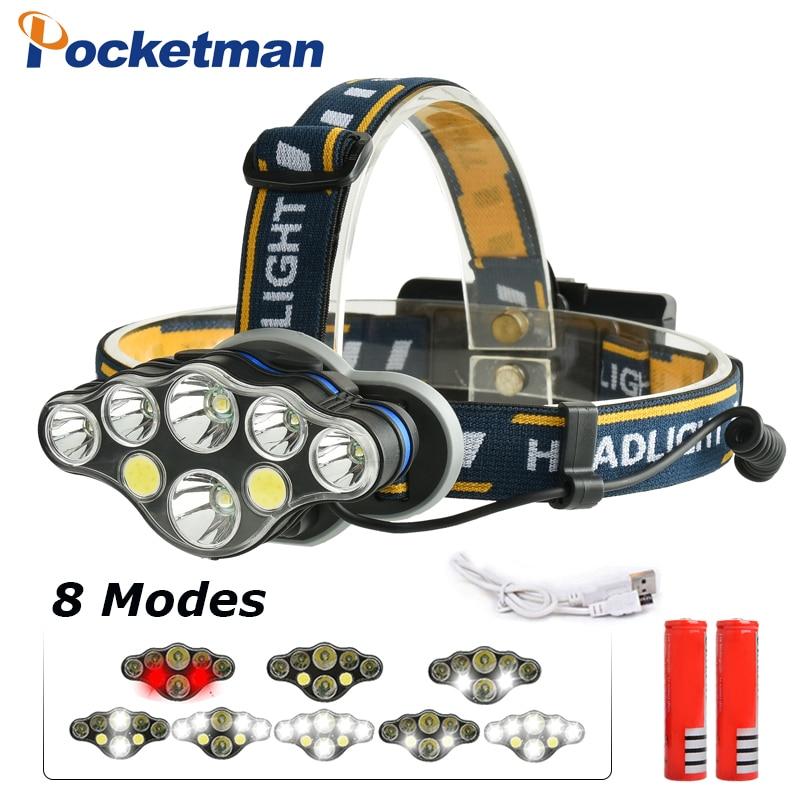 T6 Scheinwerfer 8-modus Usb Camping Taschenlampe 5/6/7/8 Led Für 18650 Batterie Wasserdichte Camping Taschenlampe Weich Und Rutschhemmend Das Beste 20000lm Cob Led Scheinwerfer Scheinwerfer Licht & Beleuchtung