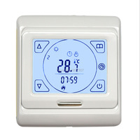 E91 716 16A Touch Screen Underfloor Heating Thermostat For Good Quality With Floor Sensor 3M Temperature