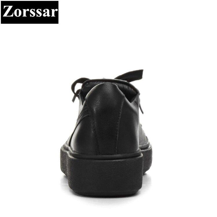 Moda Negro blanco Mujer Plataforma Dedo {zorssar} Ocio Del Pie Damas 2017 Nueva Pisos Zapatos Mocasines Casuales Plana De Metal RUE1Aqw
