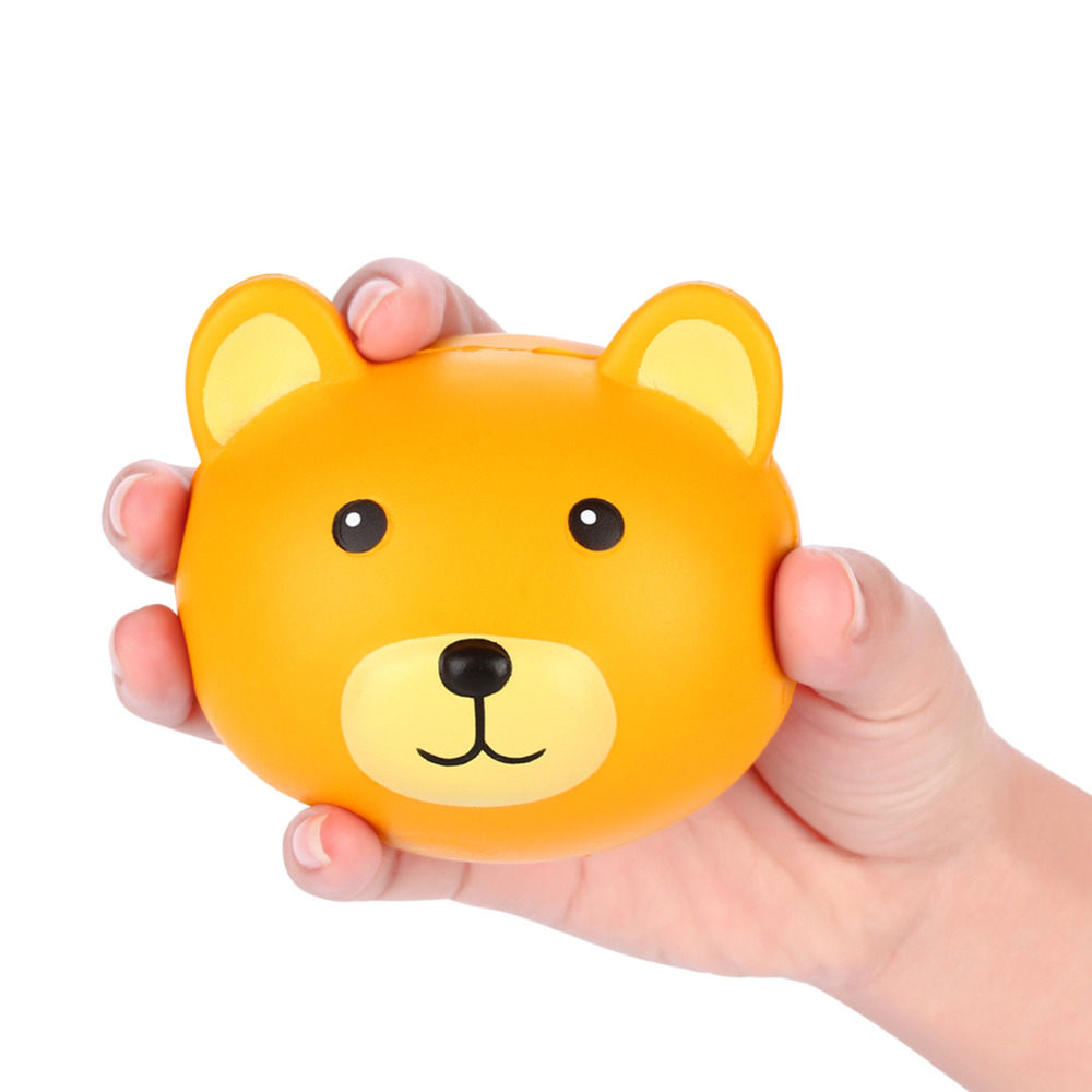 1pcs Retail Teddy Bear Head Squishys Slow Rising Jumbo Squishy Toys Stress Release Ball Toys Squishies Kawaii Licensed Toy 11cm