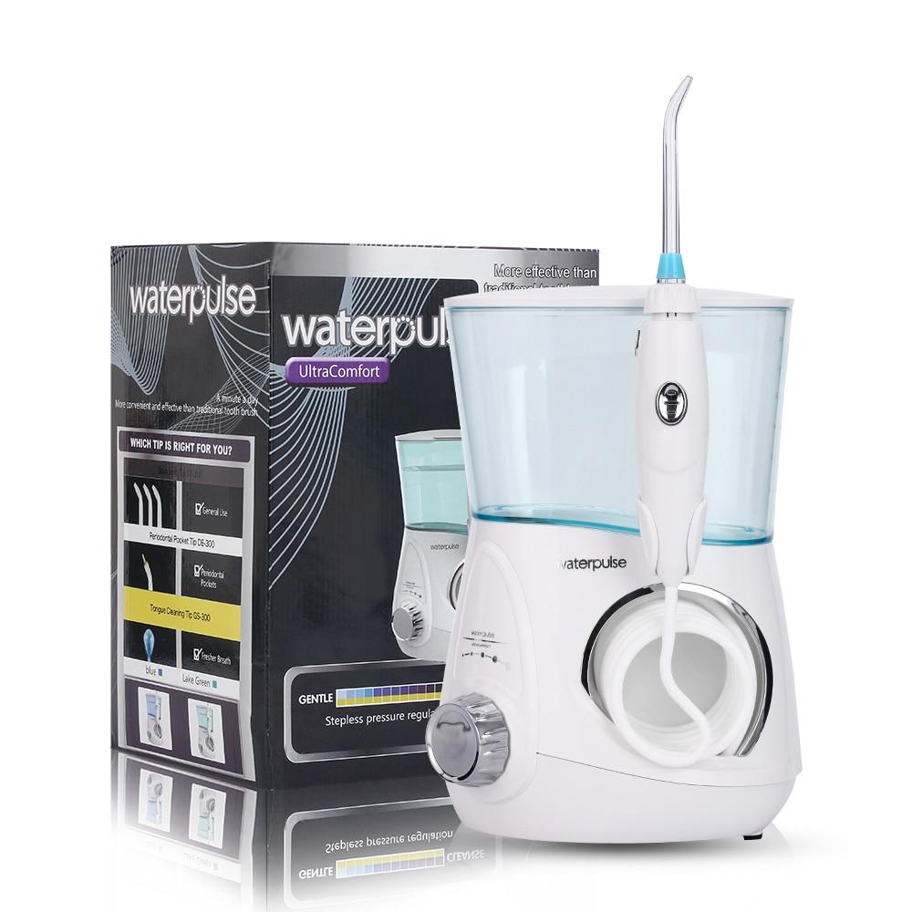 Waterpulse V600G Oral Irrigator 800ml Dental Irrigator Dental Flosser Powerful Floss Denture Water Jet Flosser Teeth
