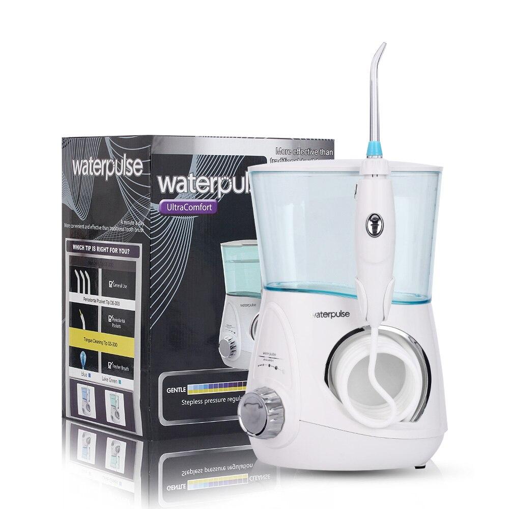Waterpulse V600G Hydropulseur 800 ml Dentaire Irrigator Soie Dentaire Dentaire Puissant Soie Prothèse Jet D'eau Flosser Dents De Nettoyage