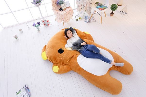 Fancytrader   200cm X 150cm Giant Huge Soft Cute Rilakkuma Double Bed Carpet Tatami Mattess Sofa, FT50336 (6)