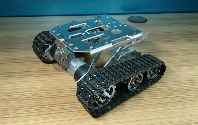 DIY Aluminum Tracked robot chassis font b RC b font Model font b tank b font