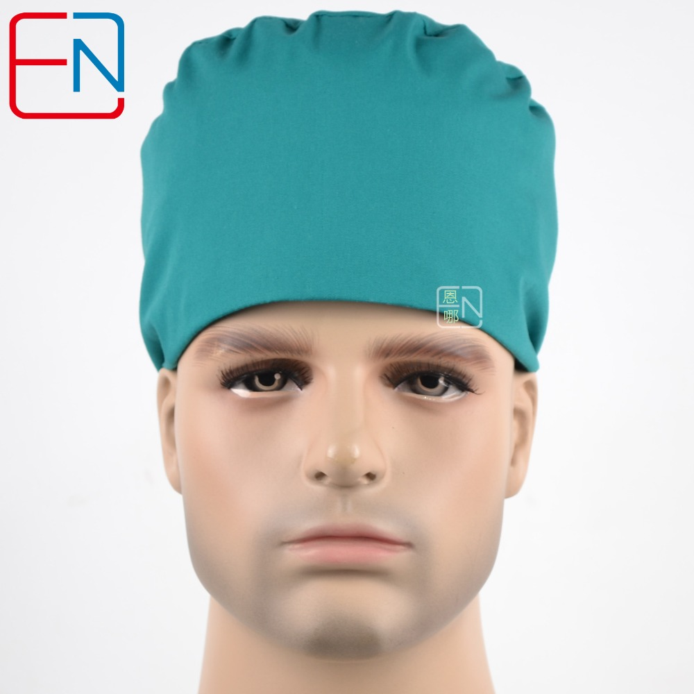 Matin Surgical  Cap   Doctors And Nurses Cap   Hat With Short Hair Apply A Solid Color Free Shipping