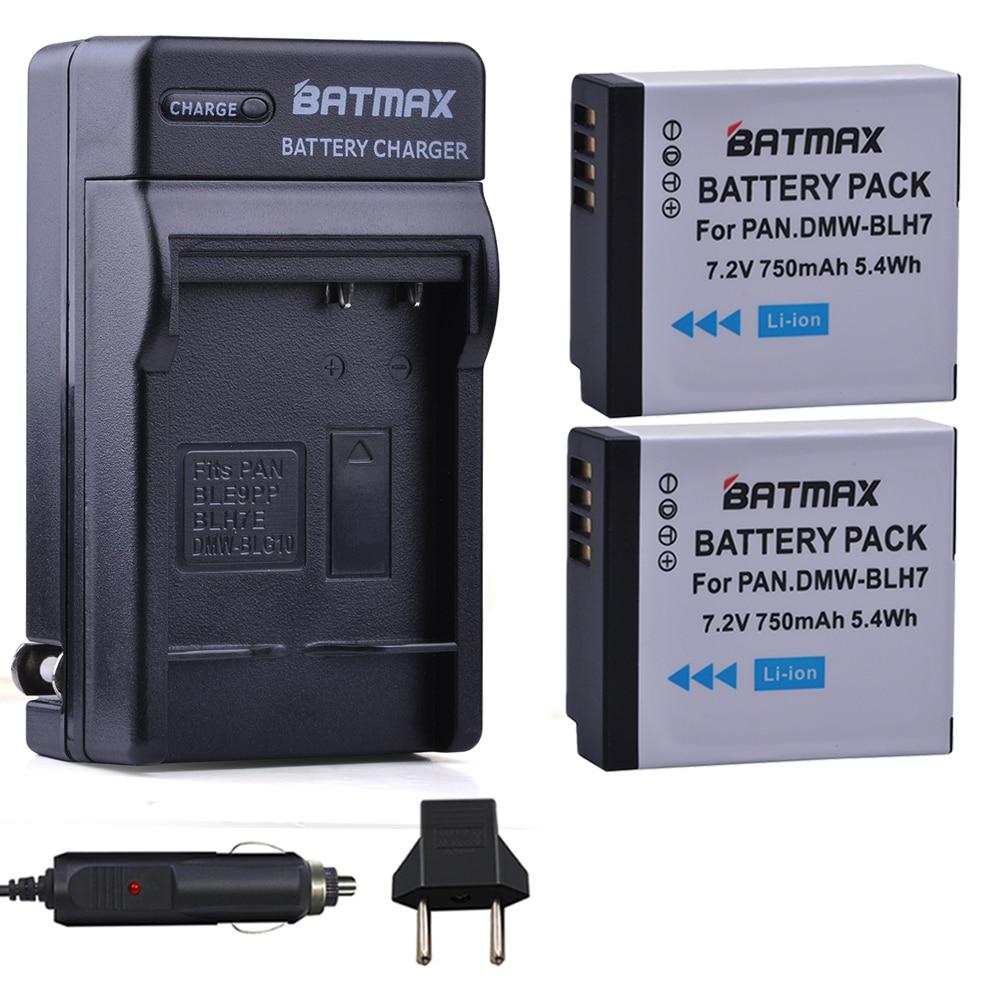 2X DMW-BLH7 BLH7 DMW-BLH7PP DMW-BLH7E Battery + Charger for Panasonic Lumix DMC-GM1, GM1, DMC-GM5, GM5, DMC-GF7, GF7,DMC-GF8,GF9 panasonic s002e compatible 720mah battery pack for panasonic lumix dmc fz1 dmc fz10 more