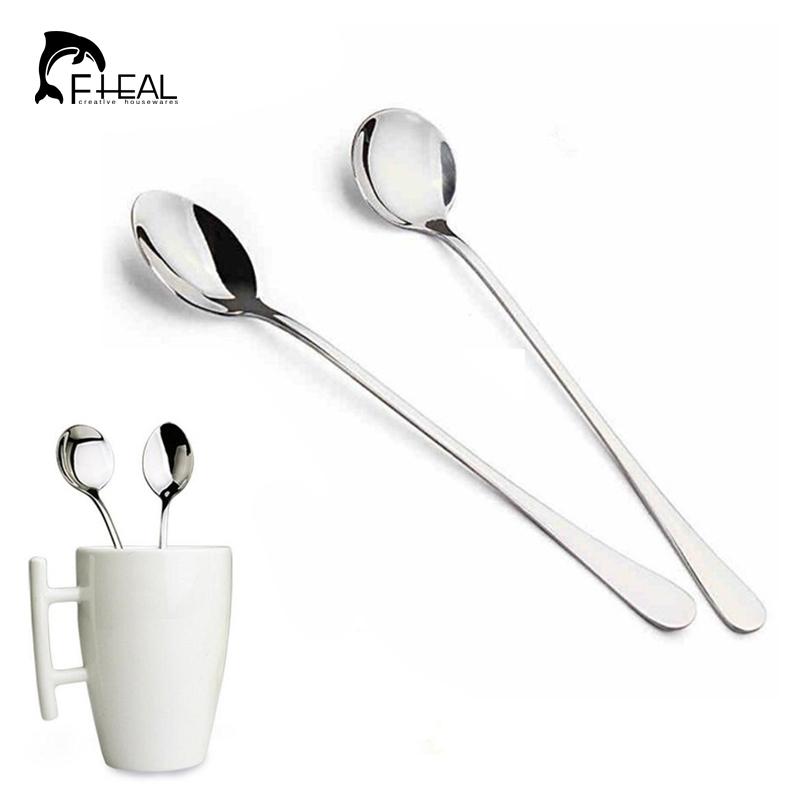 FHEAL 1pc Gold Stainless Steel Coffee Scoop Multifunctional Bag