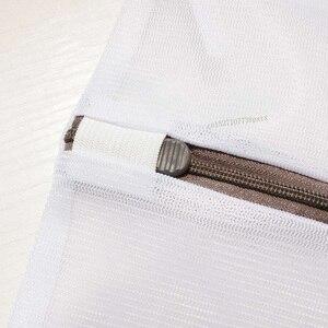 Image 4 - Youpin 3 sztuk zapinana na zamek składana nylonowa torba na pranie biustonosz skarpetki bielizna pralka do odzieży siatka ochronna worki siatkowe