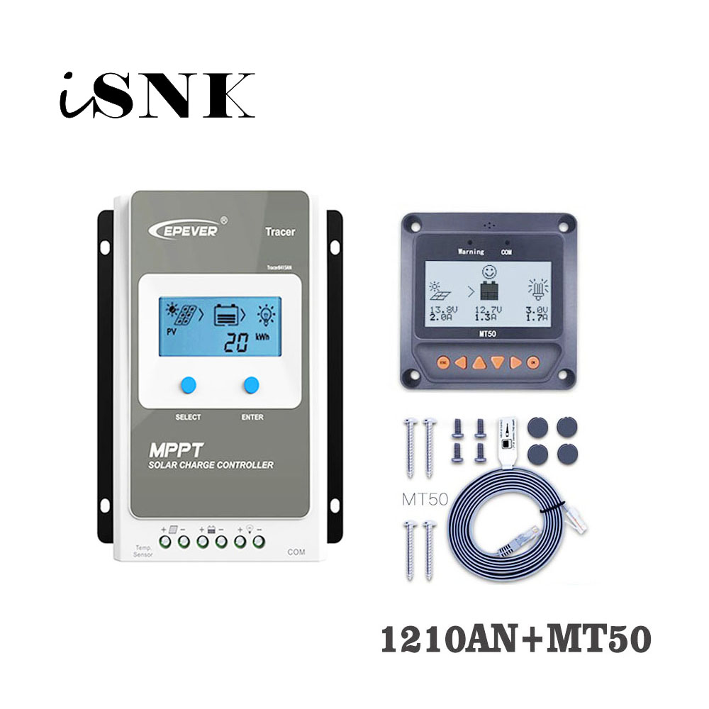 Tracer1210AN 10A MPPT Solar Charge Controller cell battery charger control 1210AN 1210A with MT50 Remote Meter LCD DisplayTracer1210AN 10A MPPT Solar Charge Controller cell battery charger control 1210AN 1210A with MT50 Remote Meter LCD Display