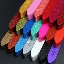 Hot Selling Vintage Colorful Sealing Wax Carved Sticks for Custom Logo Wax Seal Stamp VBL64