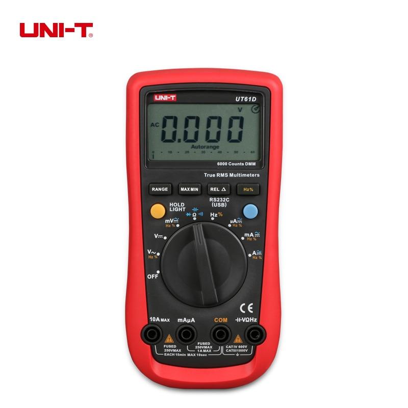 Modern UNI-T UT61D Digital Multimeter Auto Range True RMS with Continuity Buzzer AC/DC Voltmeter Ammeter