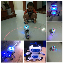 Kids Dancing Robert Toys Plastic Electronic Walking Dancing Smart Space Robot As