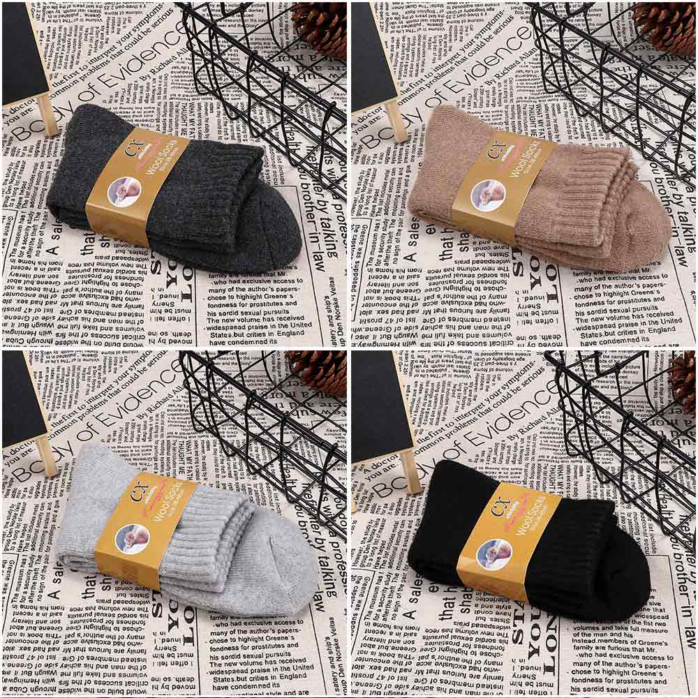 Men's Socks Intelligent 1 Pair 5 Colors Comfortable Fashion Men Socks Thicken Thermal Lamb Wool Cashmere Casual Winter Warm Socks Calcetines Skarpetki Providing Amenities For The People; Making Life Easier For The Population