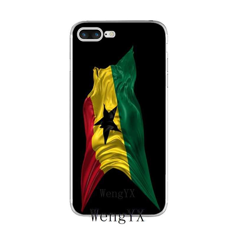 Gana bayrağı Ulusal bayrak Ince silikon TPU Yumuşak telefon iphone için kılıf X 8 8 artı 7 7 artı 6 6 s artı 5 5 s 5c SE 4 4 s