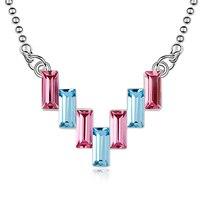 Charme Frauen Halskette Kleinen Anhänger Kleine Prinz Halskette Dame Schmuck Zubehör Österreichischen Kristall Halsketten Marke 6 Farben