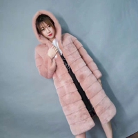 New Fashion Beautiful Woman S Real Fur Coat Natural Mink Fur Hat In The Long Section