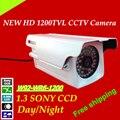 """Frete grátis venda quente câmera de segurança 1200tvl w92-wr6-1200 hd de 1/3 """"sony ccd outdoor cctv sistema de câmera à prova d' água arma"""