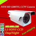 """Venta caliente del envío libre seguridad 1200tvl cámara w92-wr6-1200 hd 1/3 """"sony ccd al aire libre arma impermeable sistema de cámara de circuito cerrado de televisión"""