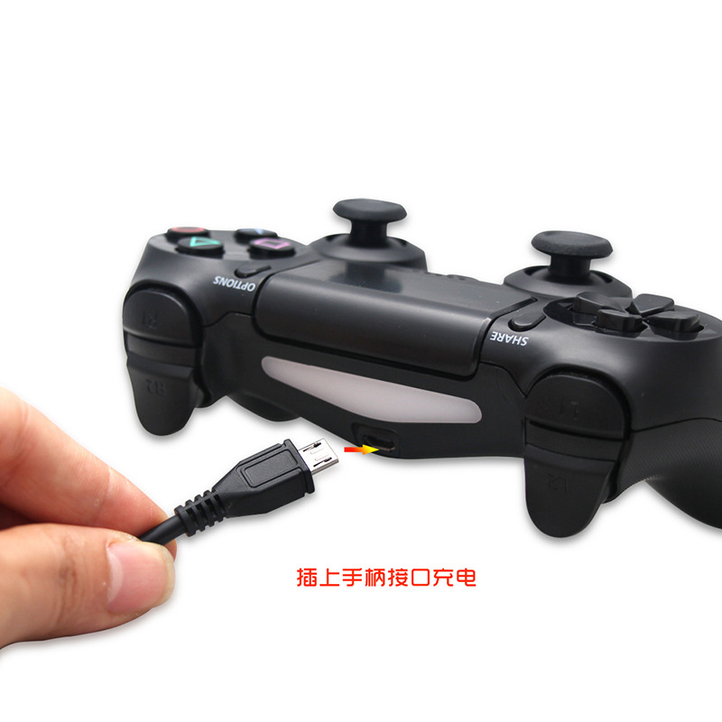 2m Micro USB Data Cable Gamepad Controller Connection With Magnetic Ring For PS4 Slim pro Controller