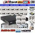 DAHUA 720P Встроенный микрофон ИК камера HAC-HDW1100E-A безопасности CVI камера 16CH HCVR5116HS-S3 купольная камера комплект HDD с блоком питания