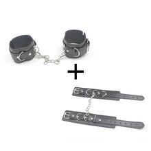 PU Leather Handcuffs For Adjustable Sex Ankle Cuff Restraints Slave Bondage Bracelet BDSM Women Erotic Adult Cosplay Toys