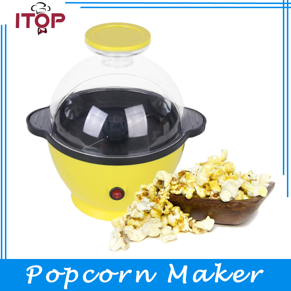 ITOP Yellow Mini Household Electric Popcorn Maker Machine Home Use Automatic Corn Popper pop 06 economic popcorn maker commercial popcorn machine with cart