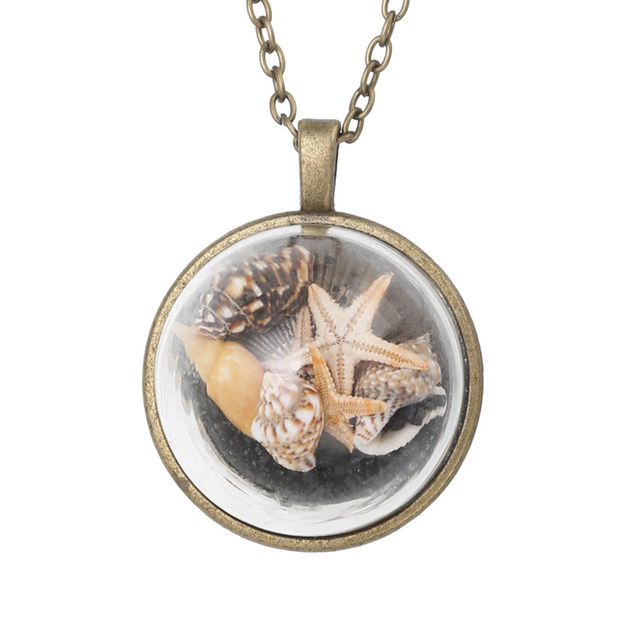 Online shop boho beach conch necklace glass starfish necklaces boho beach conch necklace glass starfish necklaces shellhard long section ocean sea glass shells pendant necklace femme jewelry aloadofball Gallery