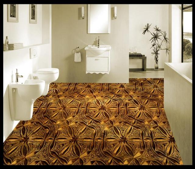3d PVC Vinyl Floor Custom Adhesive Kitchen Tiles Waterproof Self Wallpaper