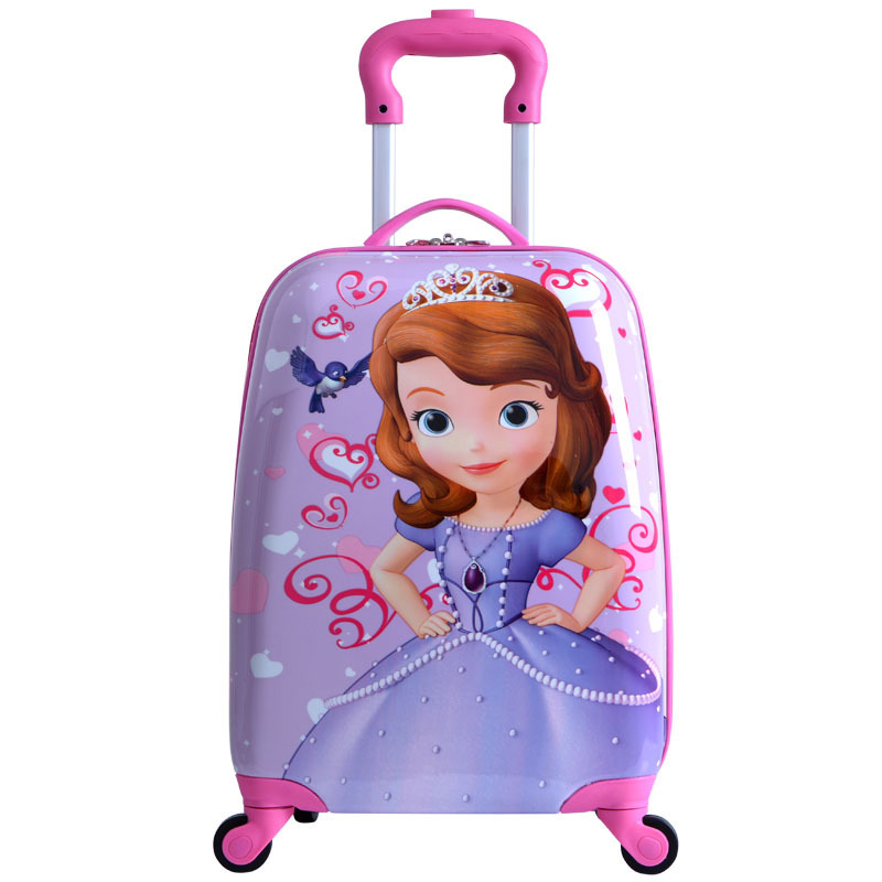 18'' ABS Girls Princess Sofia Travel Luggage/Kids Dora Suitcase On ...