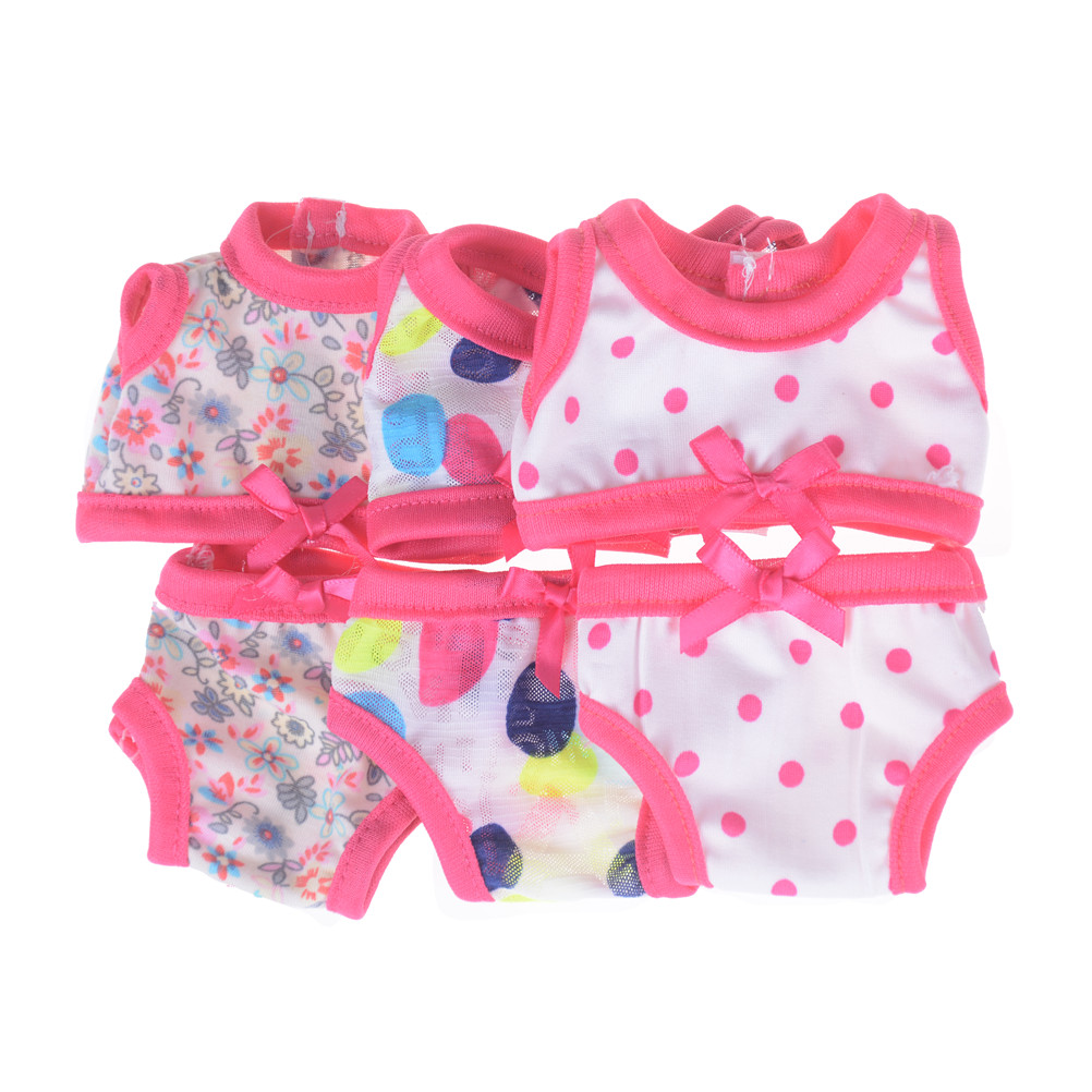 2Pcsset Swimsuit 18Inch Doll Girl Gift Doll Clothes Fit 43Cm Doll Underwear Bathing -8820