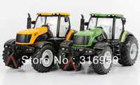 New Arrival Trailer 1 32 High Simulation Rubber 4 Wheel Farm Tractor Engineer Diecast Tractor Model