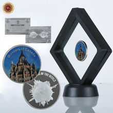 WR Library of Parliament Promotive Gift Coin Luxury Wonders of Canada Metal Coins Art Ornament with Black Showing Stand Artwork(China)