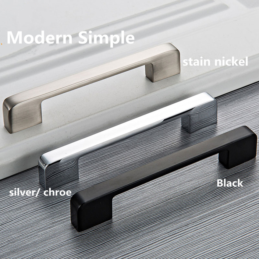 96 128 160 192 224 320mm modern simple furniture larger handle shiny silver chrome stainless nickel cabinet wardrobe handle pull96 128 160 192 224 320mm modern simple furniture larger handle shiny silver chrome stainless nickel cabinet wardrobe handle pull