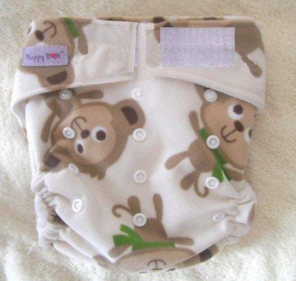 Моющиеся детские подгузники 10 шт. тканевые подгузники+ 10 шт. вставки подходят 4-17 кг - Цвет: monkey